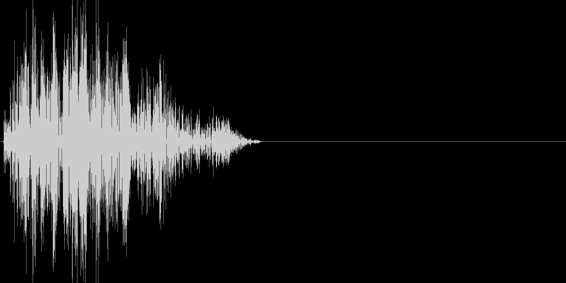 ボタン・カーソル・操作音 「チッ」の未再生の波形