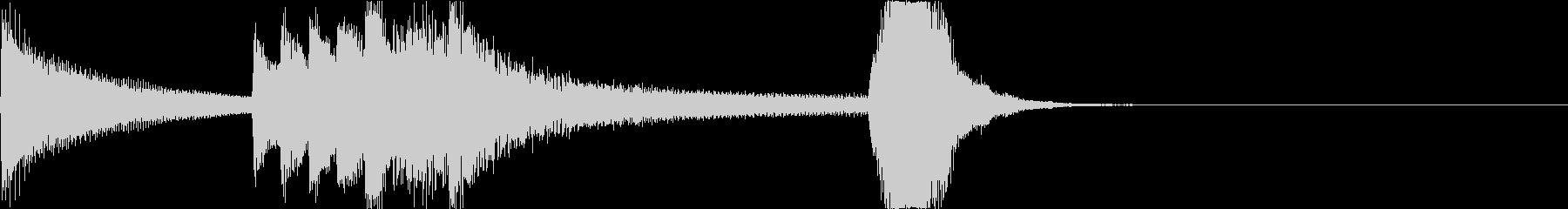 劇的なオーケストラ・ジングルの未再生の波形