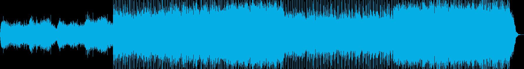 混沌とした世界観のBGMの再生済みの波形