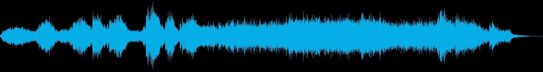 映画寄りの静かに怖いホラーBGMの再生済みの波形