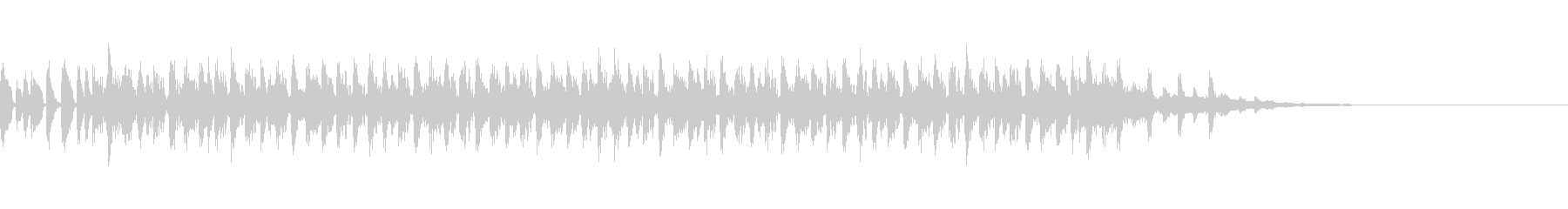 ソカ系の短いジングルの未再生の波形