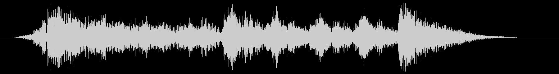 ハローウィン用のホラー曲-スティンガーの未再生の波形