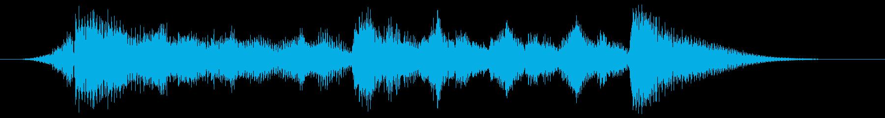 ハローウィン用のホラー曲-スティンガーの再生済みの波形