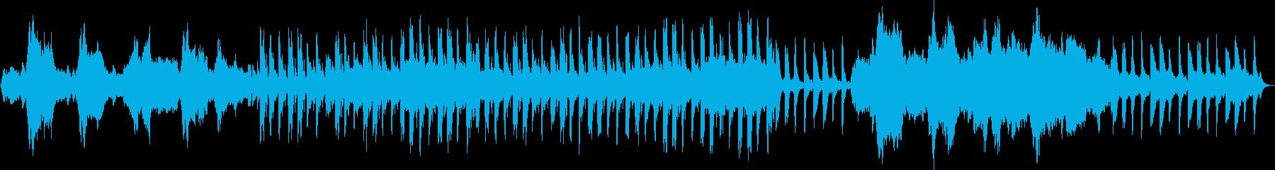 穏やかな瞑想的な音、少し暗くてサス...の再生済みの波形