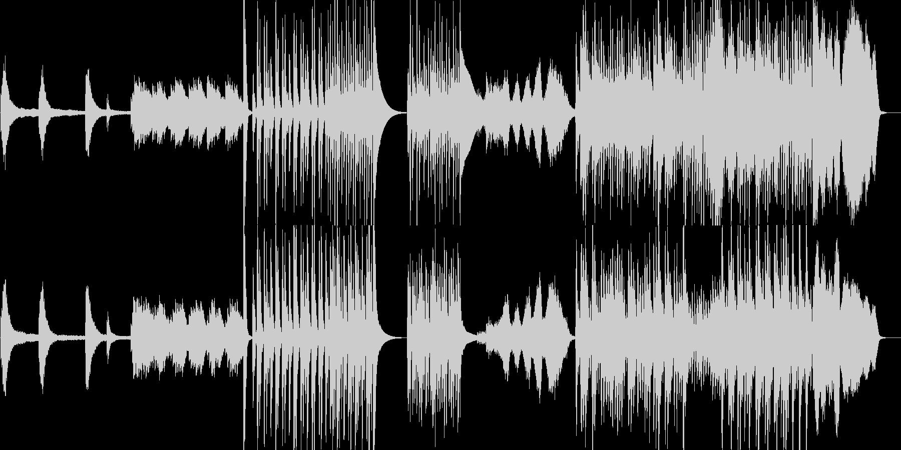ピアノと室内楽風のコミカルなBGMの未再生の波形
