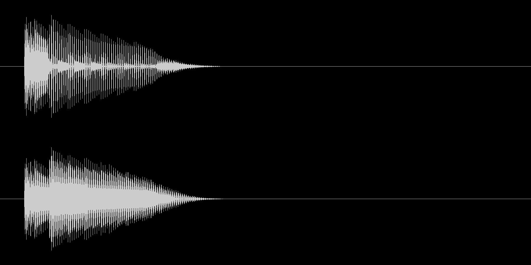 ポン(プッシュ、クリック、ボタン音)の未再生の波形