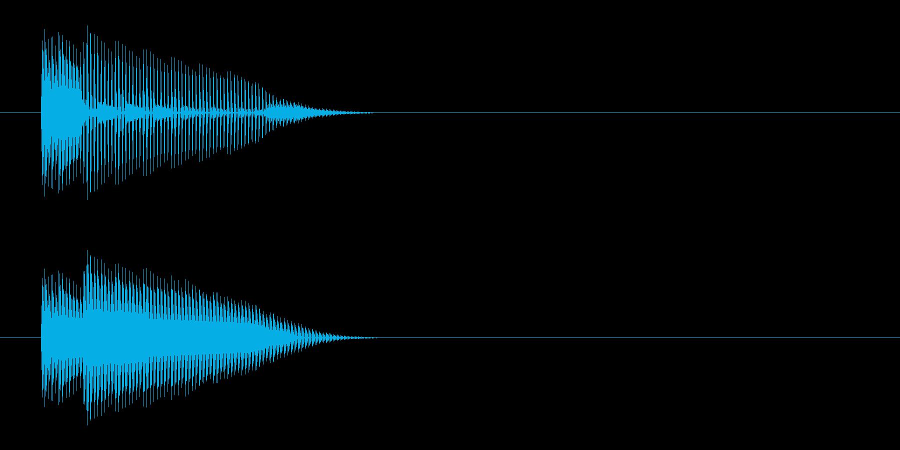 ポン(プッシュ、クリック、ボタン音)の再生済みの波形