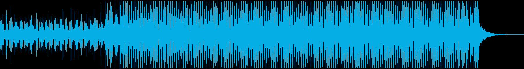 晴れ(中)の再生済みの波形