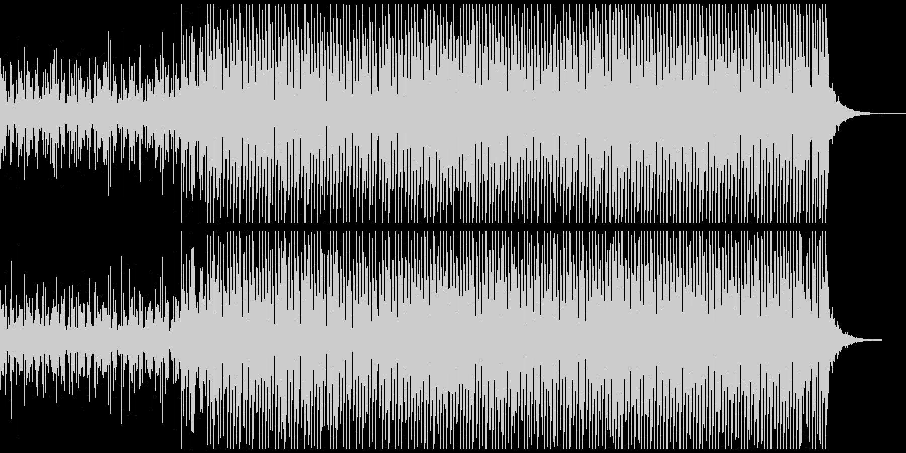 晴れ(中)の未再生の波形