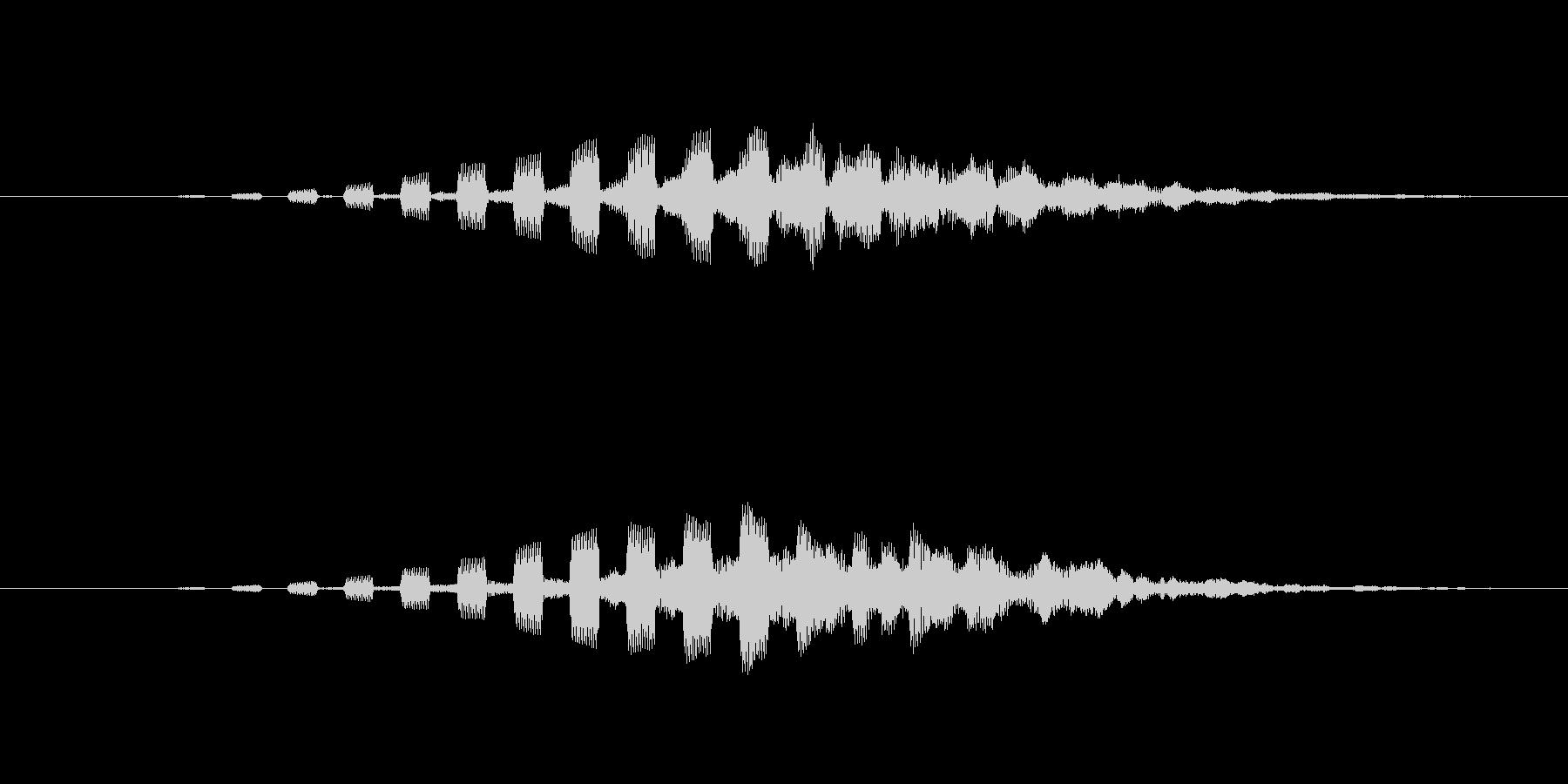 ビームをチャージするような音の未再生の波形
