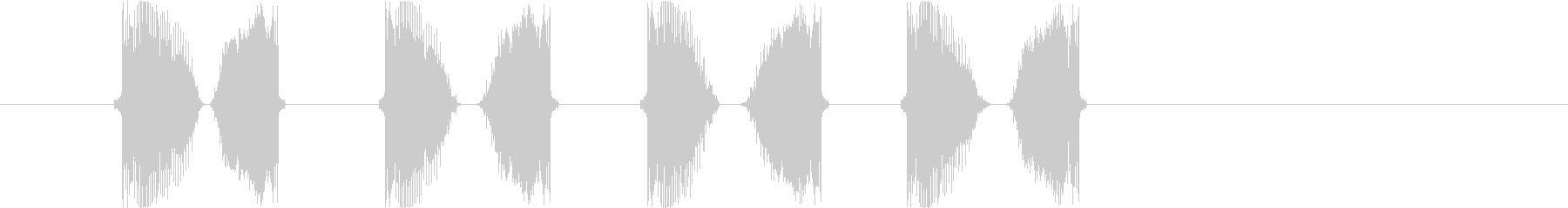 DJスクラッチ5slow(チュキチュキ)の未再生の波形