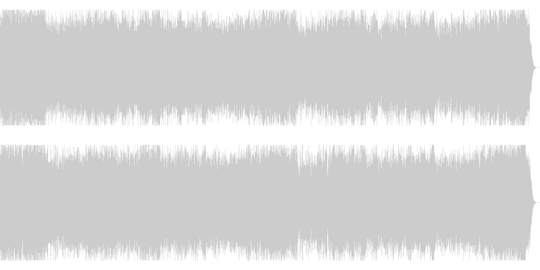 3連リズムのメロディックなメタルインストの未再生の波形