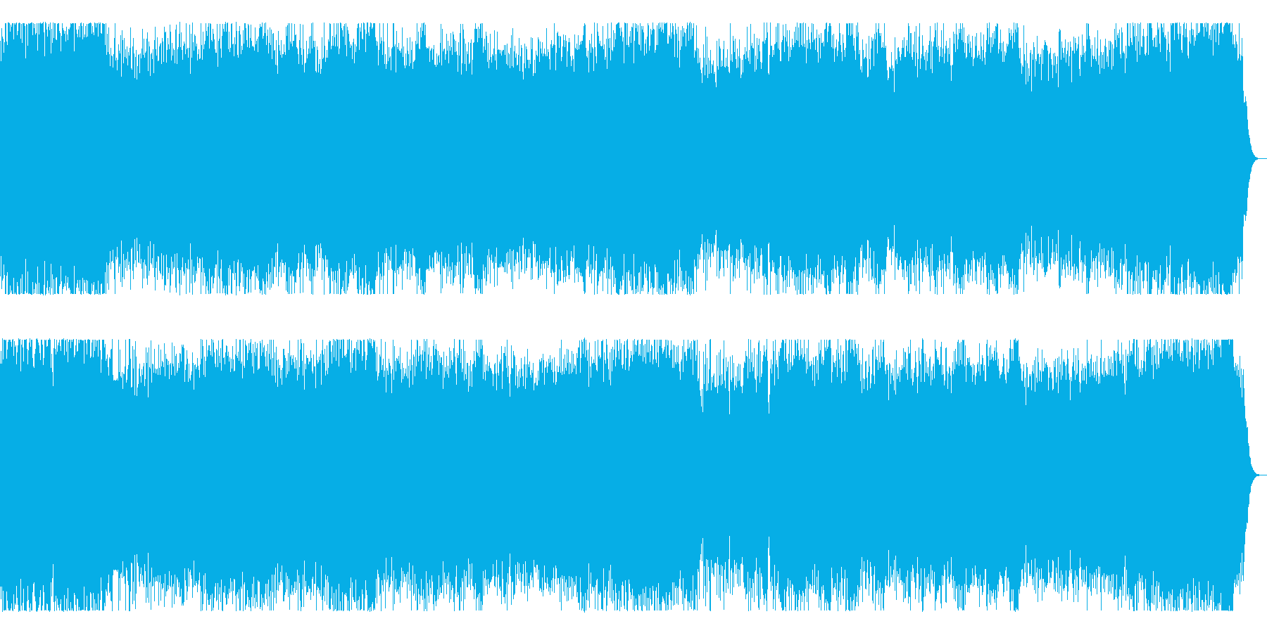 3連リズムのメロディックなメタルインストの再生済みの波形