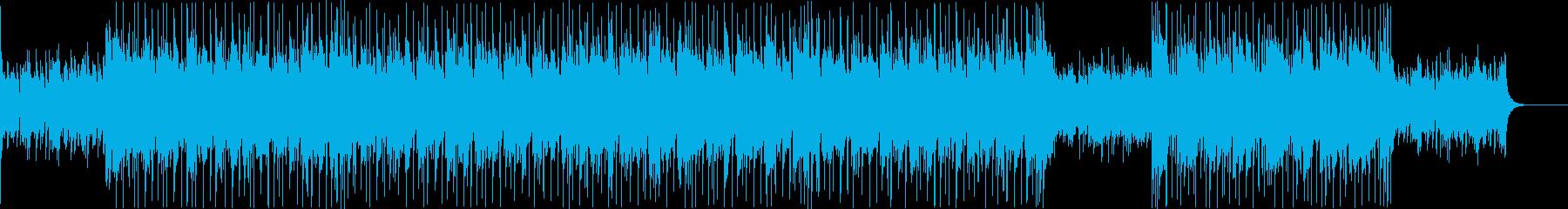 生アコギ神秘的、エスニック的生バンドの再生済みの波形