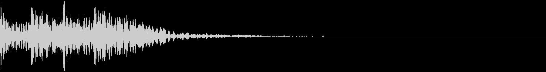 ビシボスン 残響(2連続パンチ・攻撃)の未再生の波形