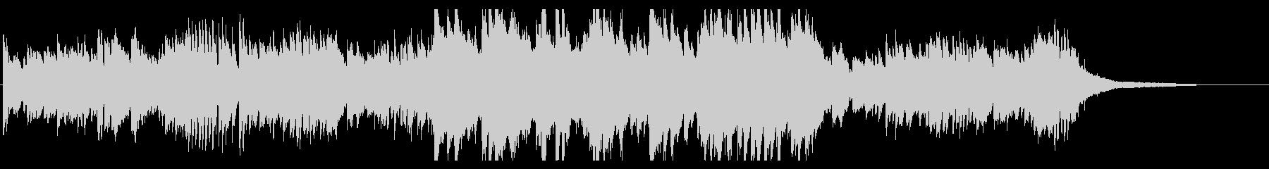 キラキラ繊細なピアノのオープニング・1分の未再生の波形