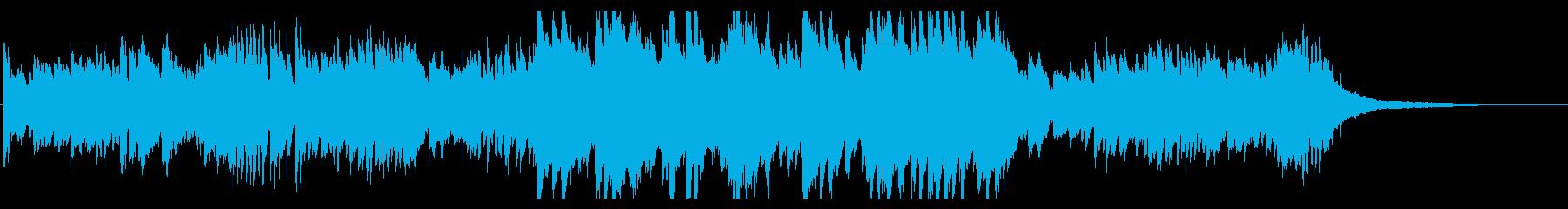 キラキラ繊細なピアノのオープニング・1分の再生済みの波形