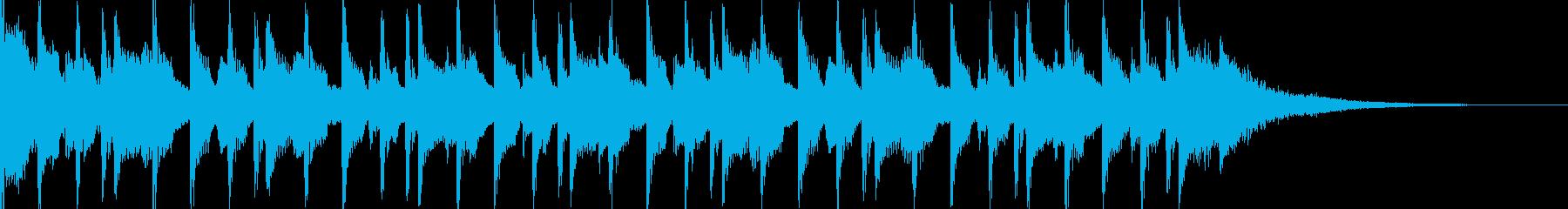 15秒CM可愛いウクレレ/子供/ほのぼのの再生済みの波形
