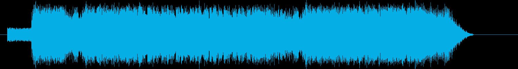 エレキギターがパワフルなバトル系BGMの再生済みの波形