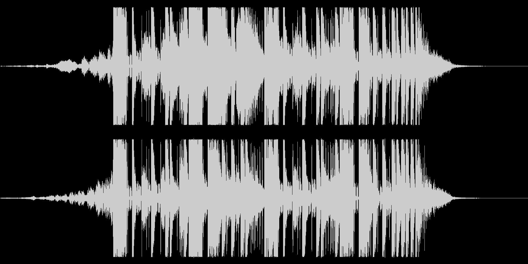 YouTube ダブステップジングル04の未再生の波形