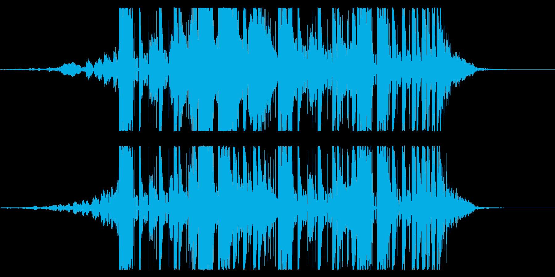 YouTube ダブステップジングル04の再生済みの波形