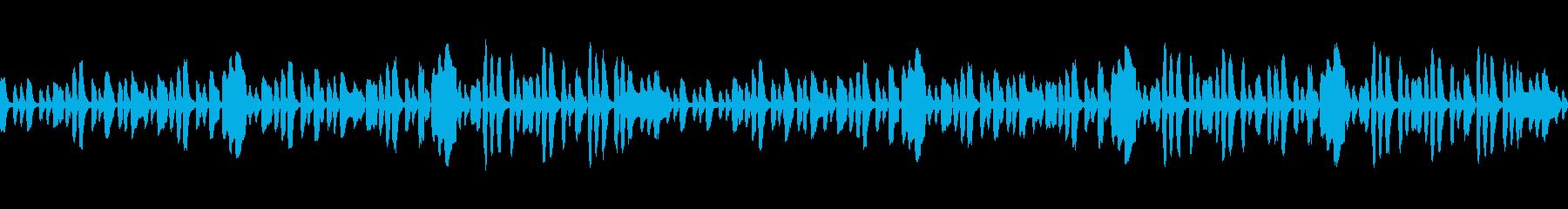 ほのぼの、日常のゆるやかなアニメ風BGMの再生済みの波形