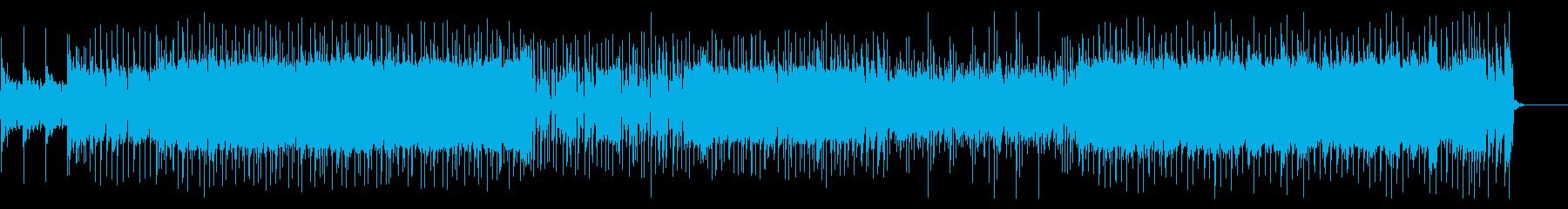 エネルギッシュで突き進むようなロックの再生済みの波形
