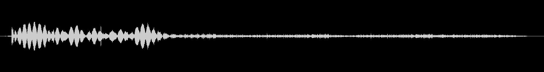 レコードに着陸するビニールレコードの針の未再生の波形
