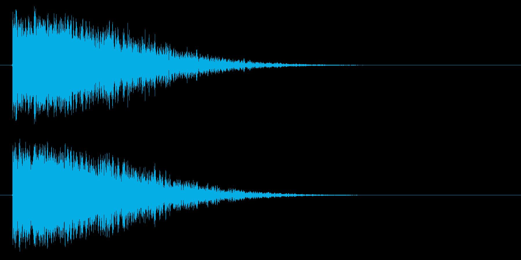 カキーン/凍りつく/氷魔法の再生済みの波形