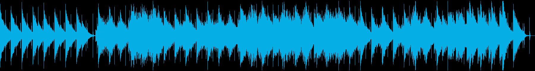 ループ仕様 静かな雰囲気のBGMの再生済みの波形