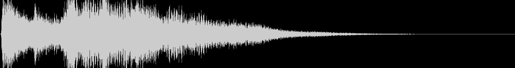 サウンドロゴクリックスタート音の未再生の波形