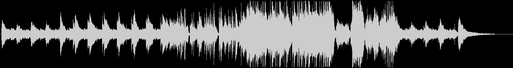 民族楽器の響きが優しい癒し系スローBGMの未再生の波形