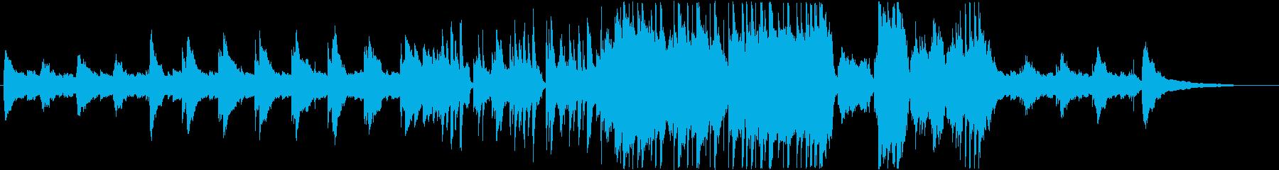 民族楽器の響きが優しい癒し系スローBGMの再生済みの波形