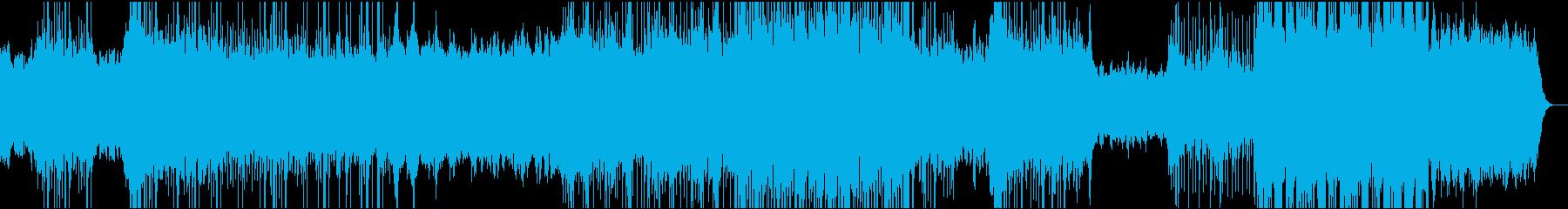 テクスチャーEDMで機械的で透明な曲の再生済みの波形