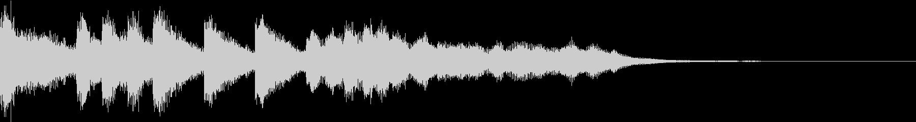 ファンファーレ シンプル ベル 13の未再生の波形