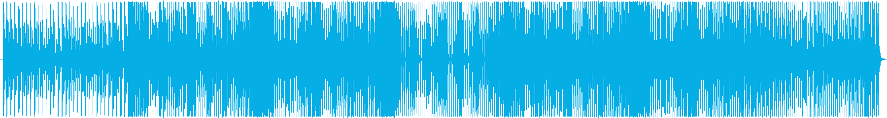 コミカルな雰囲気を持つ4つ打ちのBGMの再生済みの波形