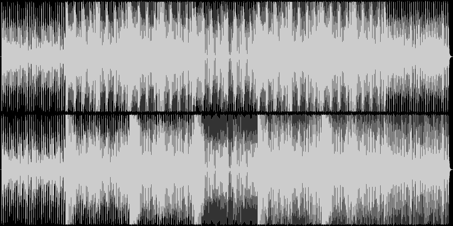 コミカルな雰囲気を持つ4つ打ちのBGMの未再生の波形