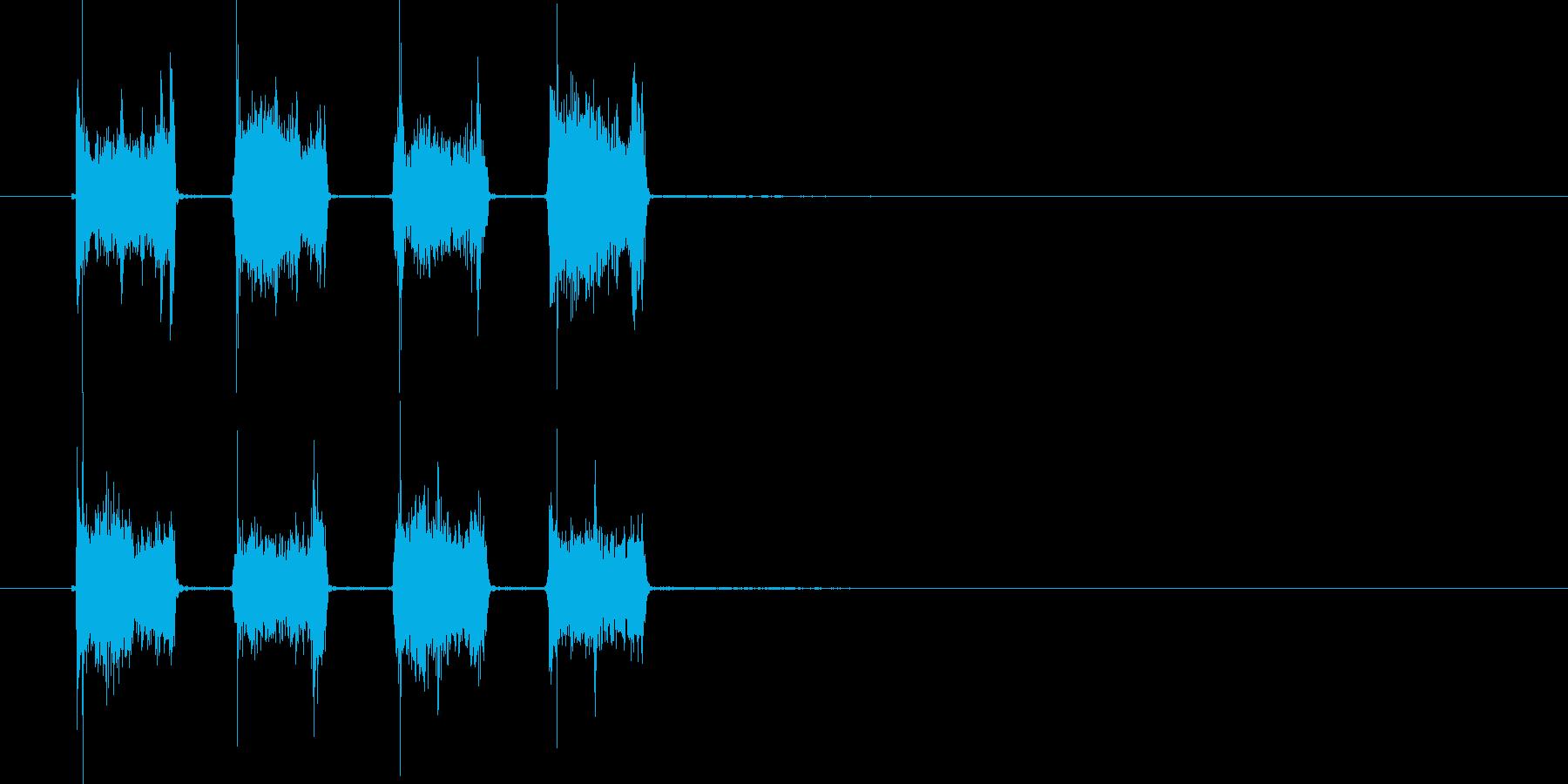 タッタッタッタッ(音が上がる効果音)の再生済みの波形