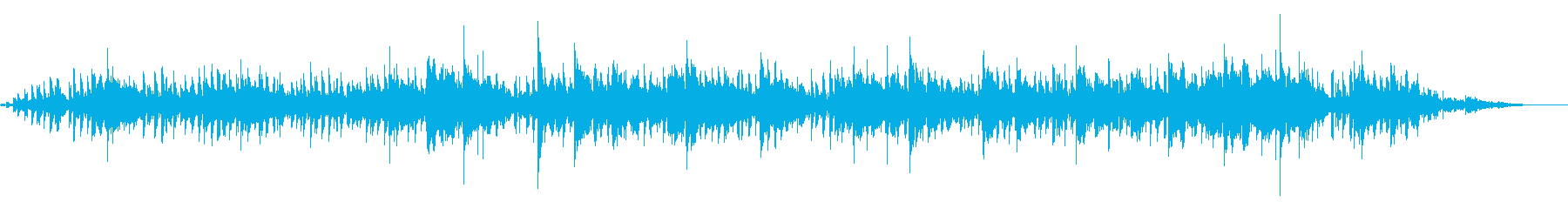 Guitar ambient with a transparent tone's reproduced waveform
