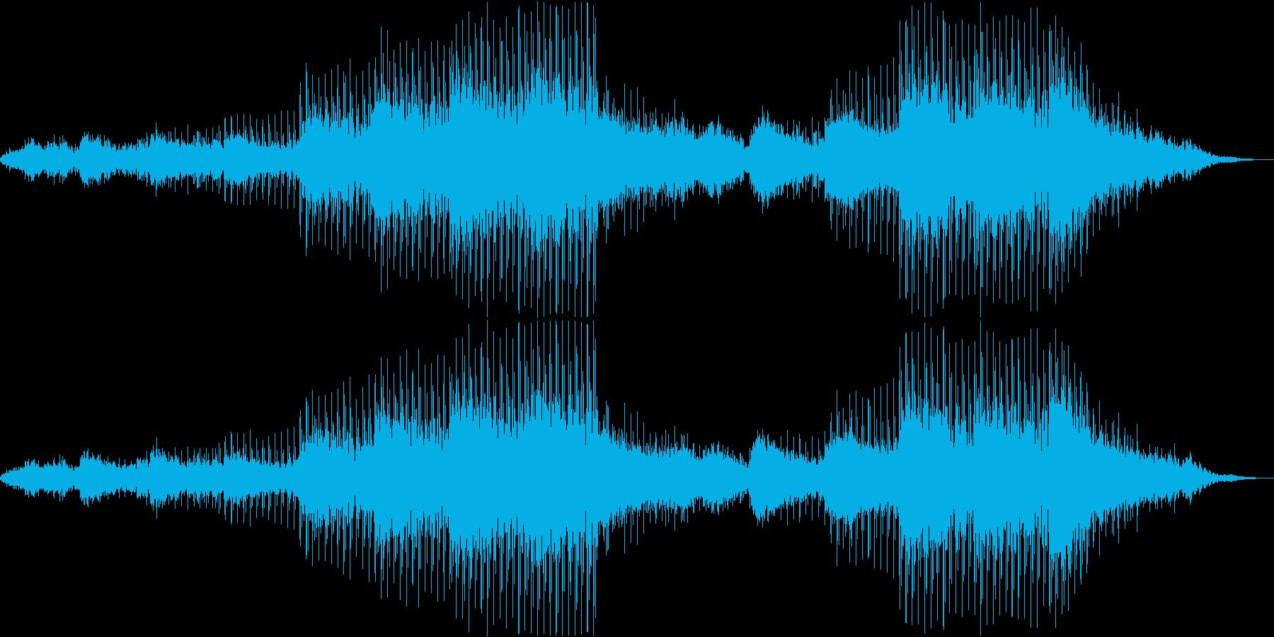 ダークなアンビエント・ドローンの再生済みの波形
