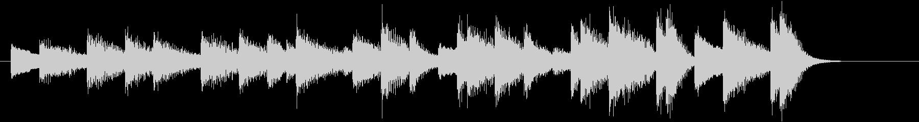 モミの木モチーフXmasピアノジングルBの未再生の波形