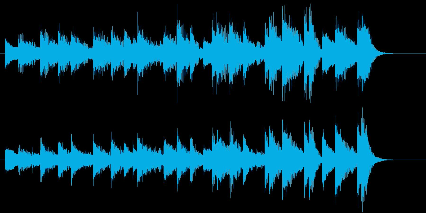 モミの木モチーフXmasピアノジングルBの再生済みの波形