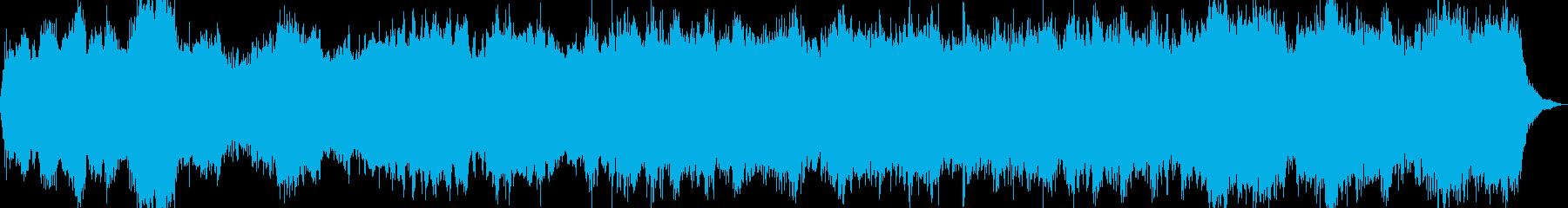 怖いシーンで使われる不気味なオーケストラの再生済みの波形