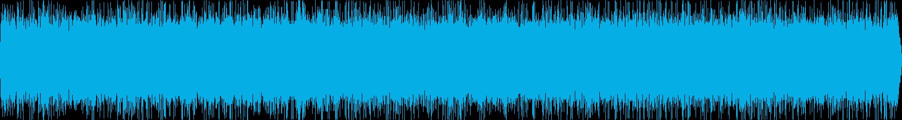 湧き水がどんどん湧き出てくる音の再生済みの波形