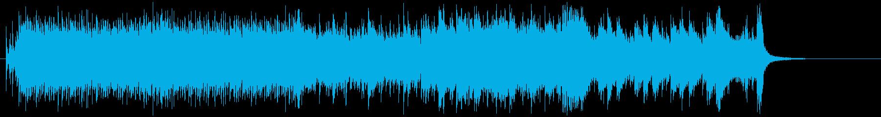 パワフルに、せり上がるタイトルBGMの再生済みの波形