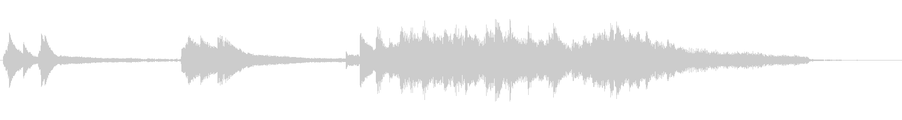 Piano jingle with a fresh atmosphere's unreproduced waveform
