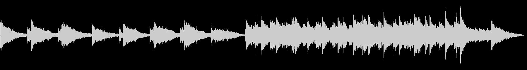 とてもゆっくりのソロ・ピアノ曲の未再生の波形