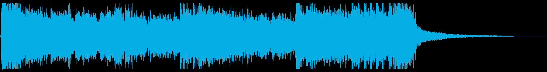 ジングル5秒でテンションMAX!ROCKの再生済みの波形