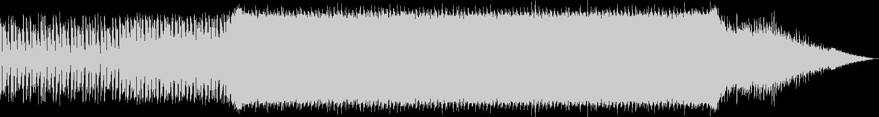 始まりを予感させるエレクトロミュージックの未再生の波形