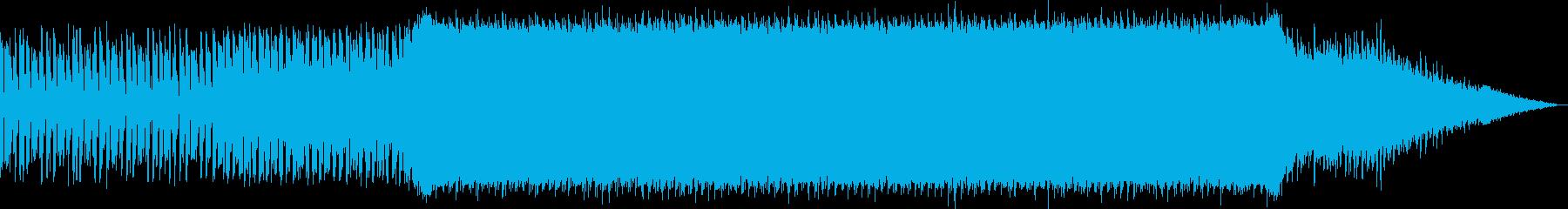 始まりを予感させるエレクトロミュージックの再生済みの波形